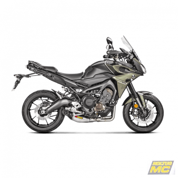 Akrapovic Yamaha Tracer 900 15-20 Racing Line 3/1 oval lyddæmper i titanium/carbon (ECE godkendt)